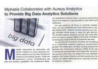 Mphasis | Mphasis collaborates with Aureus Analytics